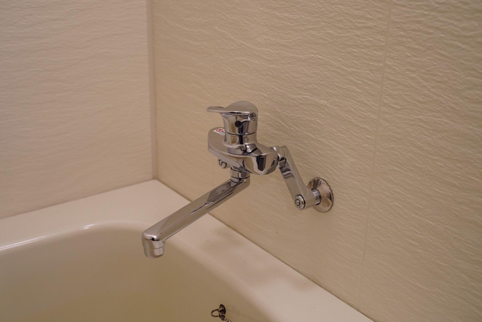リクシル製!お風呂の水栓交換リフォーム(2か所)事例/京都市中京区