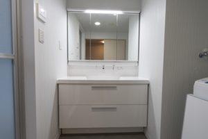リクシル「LC」間口120㎝への洗面台リフォーム事例/京都市中京区