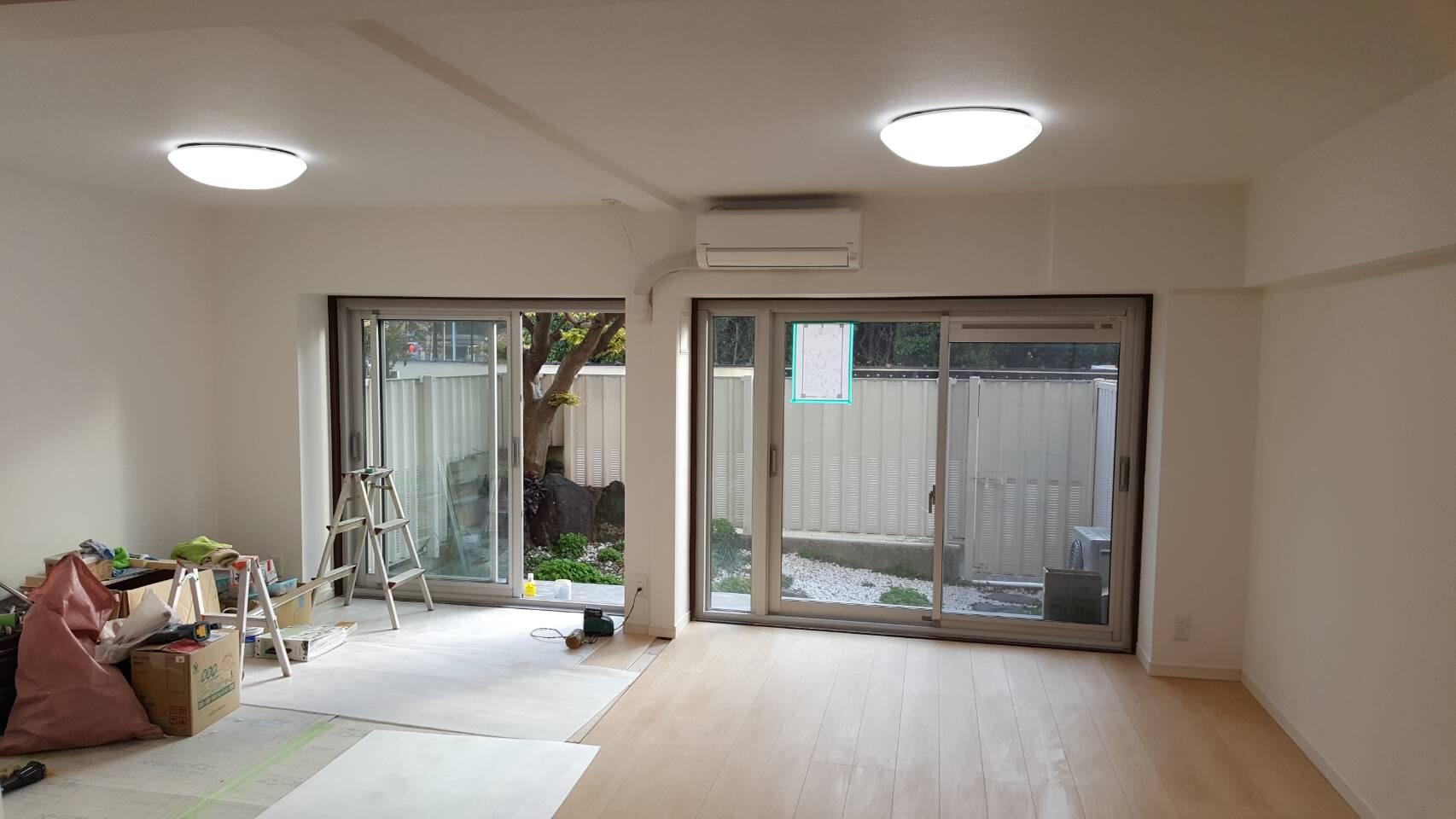 20万円台!間仕切り壁を撤去して、2部屋を1部屋にするリフォーム事例/東京都