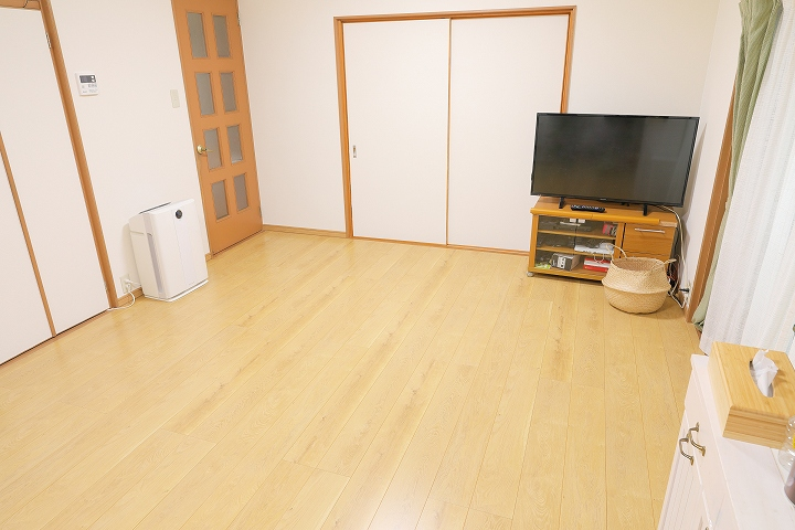 6畳の畳からフローリングへの張替えリフォーム事例/京都府宇治市