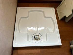 64センチ角の洗濯機パンへの交換事例/京都市左京区