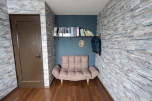 押入れを解体して部屋を広げ、ブルックリンスタイルの書斎にする洋室リフォーム事例/京都市西京区