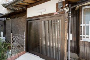 玄関引き戸の交換リフォーム事例/京都市西京区