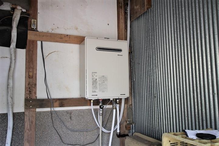 石油からプロパンガス用の給湯器への交換リフォーム/京都府亀岡市