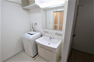 クロス・床も張替え!ノーリツ「シャンピーヌ」への洗面台交換/京都市西京区