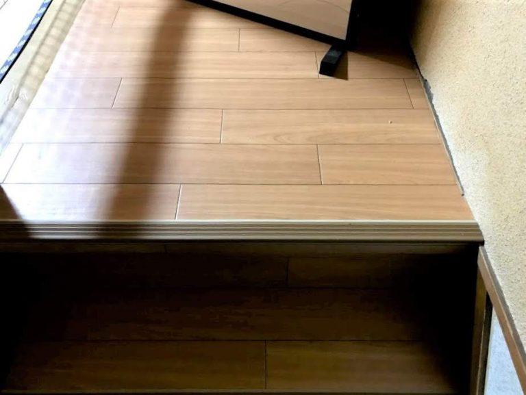 カーペットの階段をクッションフロアで張替えたリフォーム事例/京都府向日市