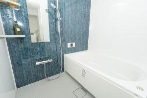 マンションのお風呂と120センチの洗面台のリフォーム事例/京都市中京区