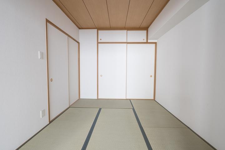 マンション和室の畳表替えとクロス張替え事例/京都市下京区