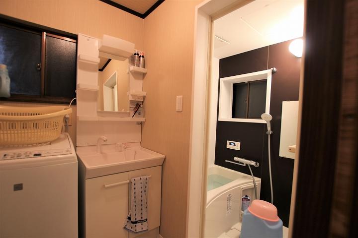 費用を抑えた在来浴室と洗面所のリフォーム事例/京都市北区