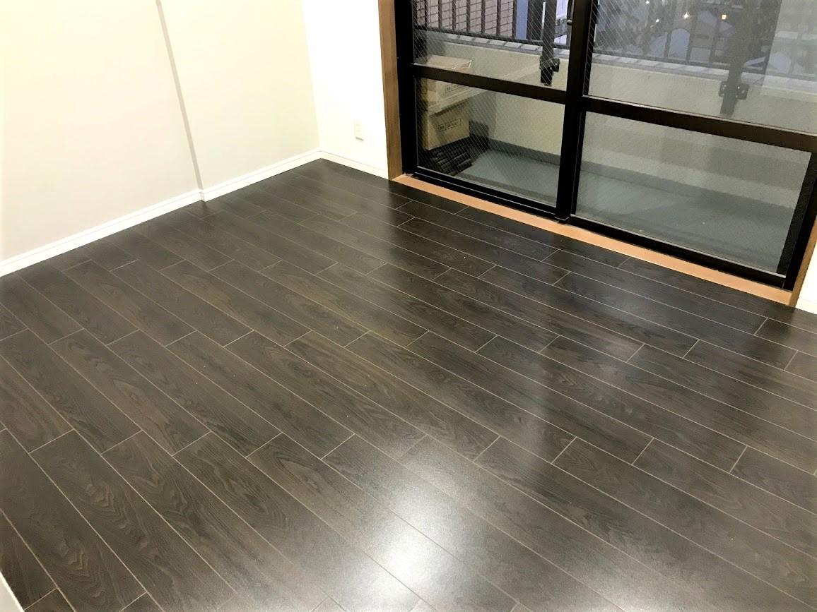 6.5畳!マンションでカーペットからフローリングへの張替えリフォーム/京都市下京区