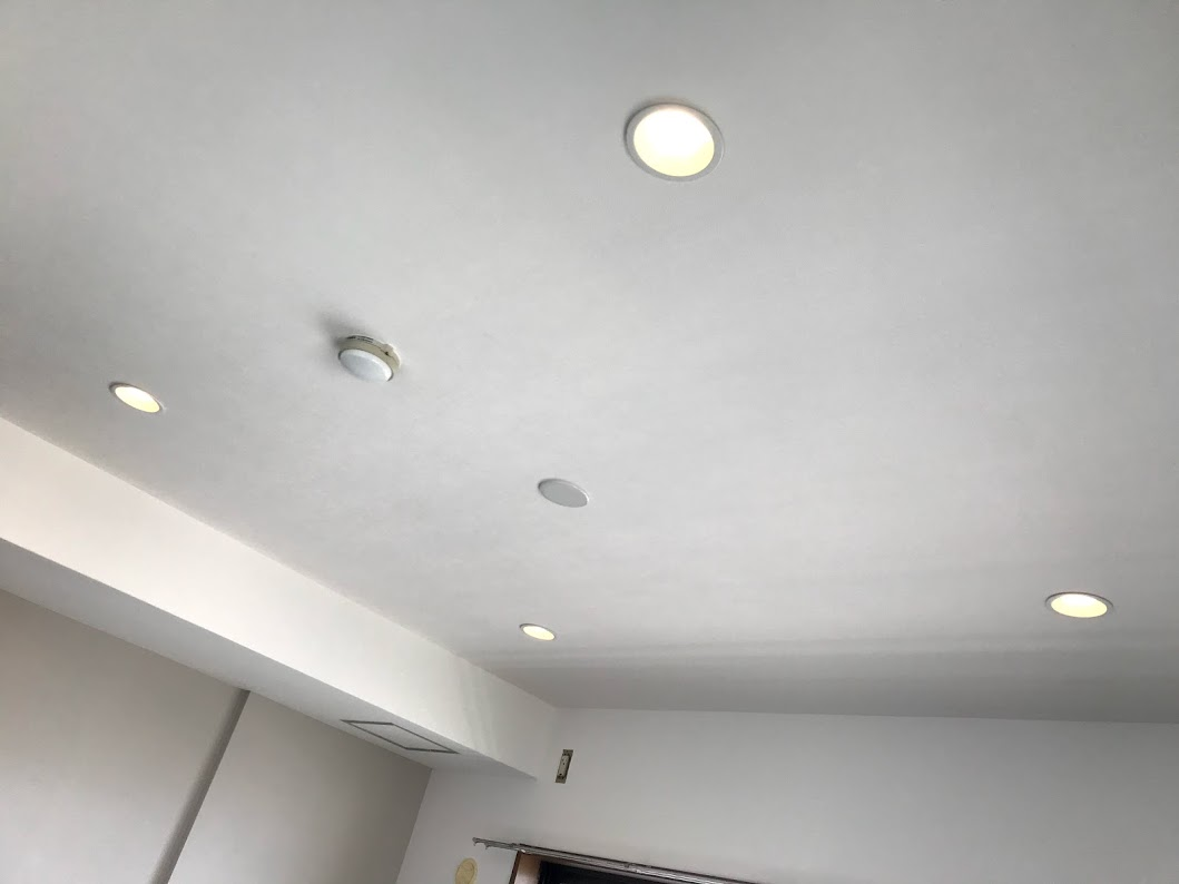 寝室に調光式のダウンライト設置したリフォーム事例/京都市下京区