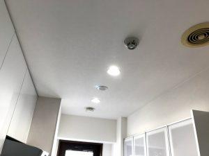 キッチンにダウンライトを設置するリフォーム事例/京都市下京区