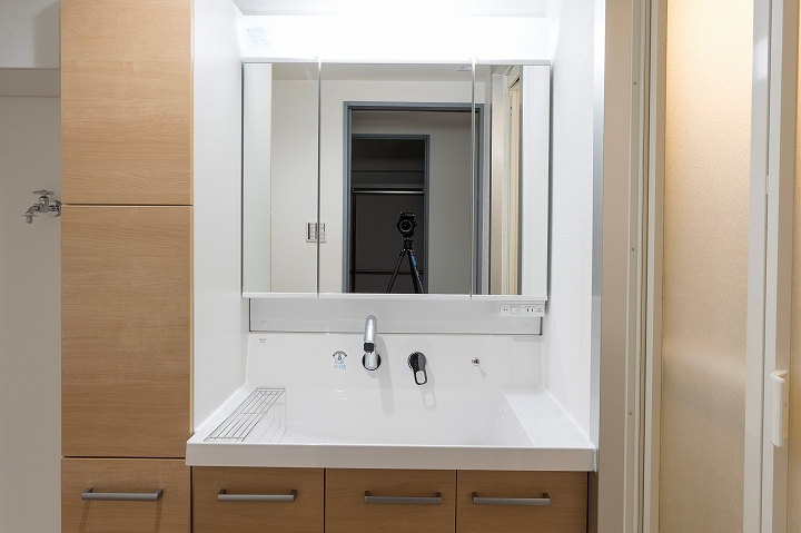 トールキャビネット付き!間口120㎝の洗面台リフォーム事例