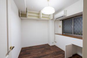 クロス張替えも!5畳洋室にクッションフロアを上張りした事例/京都市下京区