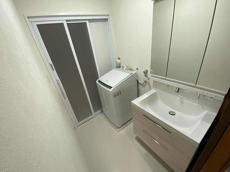 洗濯機パンも交換!リクシル「LC」への洗面所リフォーム/京都市中京区