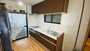 カップボード付き!食洗機・IH付きキッチンへのリフォーム事例/京都市北区