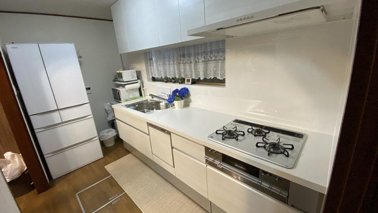 食洗機付き!コンロは再利用でお得にキッチン交換事例/京都市左京区