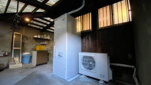 プロパンの給湯器からエコキュートにしてオール電化へ/京都市西京区