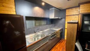 シックな雰囲気のクリナップ「ステディア」へのキッチンリフォーム事例/京都市山科区