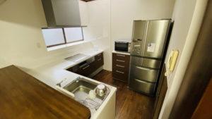 カップボード付き!食洗機付きL型キッチンへのリフォーム事例/京都市北区