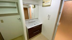 自動水栓付き!TOTOオクターブへの洗面所リフォーム事例/京都市山科区