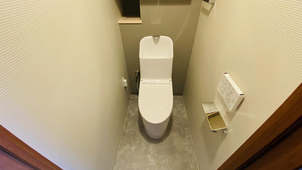 手洗いボウルが広い!TOTO「GG-800」へのトイレリフォーム/京都市中京区