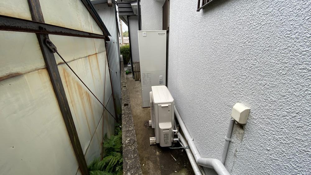 古くなったエコキュートの交換事例/京都市北区