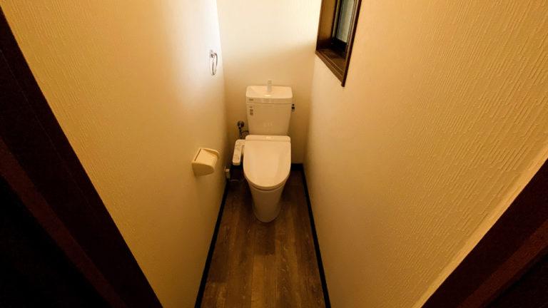 クロス・床も張替え!格安でのトイレリフォーム事例/京都市西京区