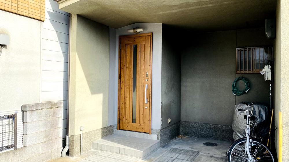 タッチキー付きの玄関サッシへのリフォーム事例/京都市西京区