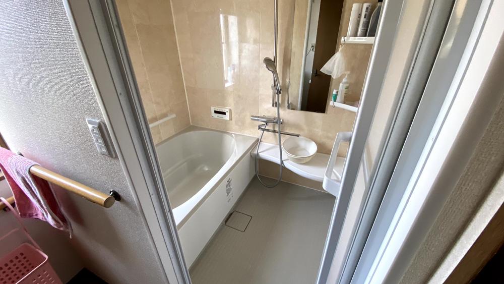 狭小の戸建て2階のお風呂・洗面所フォーム事例/京都市上京区