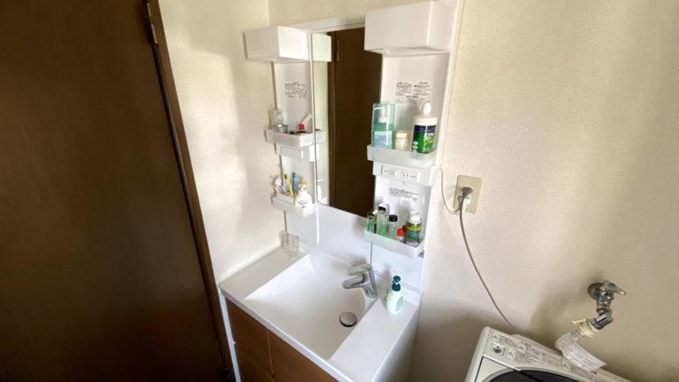コンパクトサイズの洗面台フォーム事例/京都市上京区