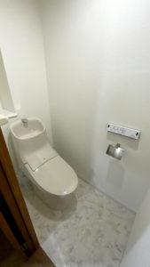 掃除がしやすくデザインがいいトイレリフォーム事例/京都市西京区