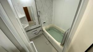 大きな鏡の洗面台に!マンションのお風呂・洗面所リフォーム事例/京都市西京区