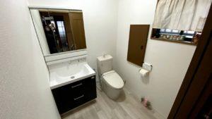 トイレ併設の洗面所をリフォームした事例/京都府向日市